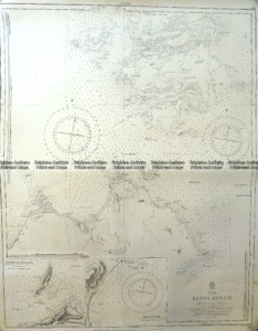 13-95  Tasmania - Navigation Chart of Banks Strait  c.1878 (1921)
