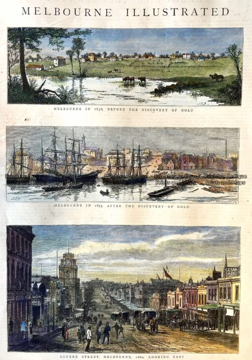 15-101 Melbourne views from 1830's to 1880's