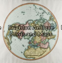 16-230 - Northern & Southern Hemispheres Pair of maps Pinkerton - circa 1813 Hand coloured engraving 50cm X 50cm Condition A+