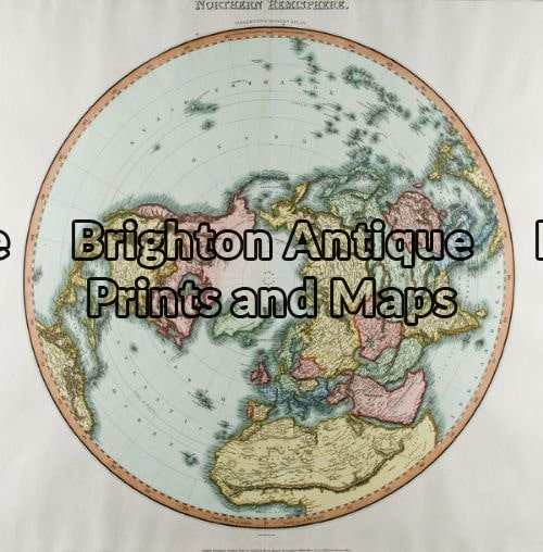 16-230 – Northern & Southern Hemispheres Pair of maps Pinkerton – circa 1813 Hand coloured engraving 50cm X 50cm Condition A+