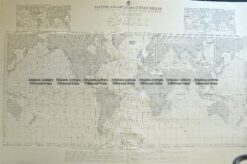 16-259  World - currents - Admiralty Chart  c.1879