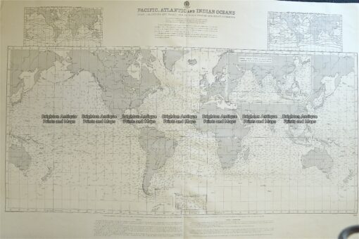 16-259  World – currents – Admiralty Chart  c.1879
