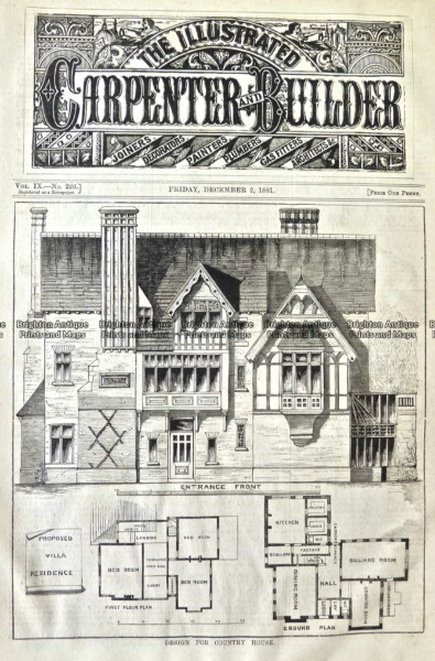 17-263  Architecture  – Floor plan  c.1881