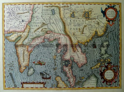 2-147  India Orientalis by Mercator/Hodius  c.1623