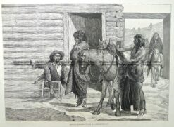 22-003  Indians at a trader's hut  c.1876