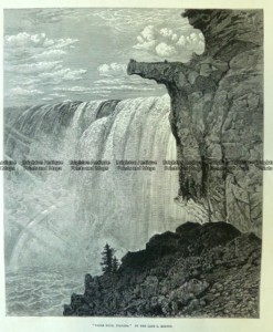 22-008  Table Rock Niagara Falls c.1876