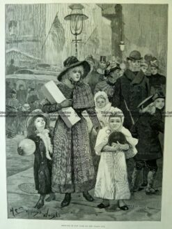 22-014  Shopping in New York by Wright c.1891