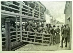 22-016  Russian emigrants landing in New York  c.1892