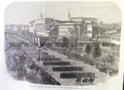 22-023  President Lincoln - funeral procession in Washington c.1865