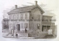 22-025  Lincoln - residence in Springfield Illinois c.1860