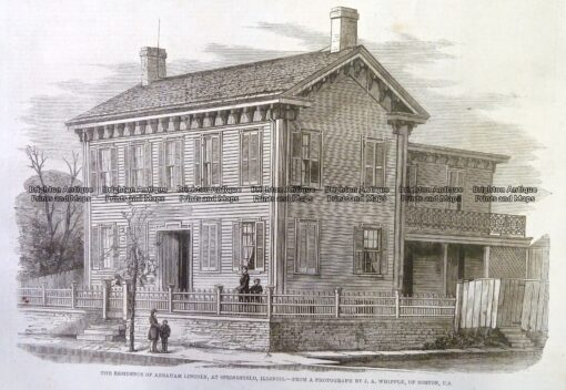 22-025  Lincoln – residence in Springfield Illinois c.1860