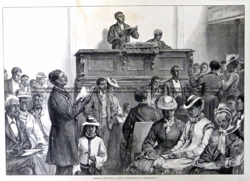 22-033  Negro congregation at Washington c.1876