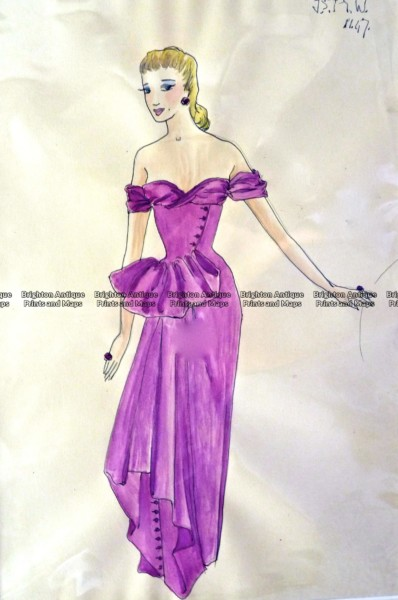 23-280  Fashion – Pen and Ink sketch c.1947