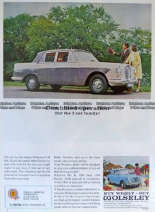 23-311 Wolseley car advertisement c.1959