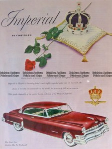 23-312  Imperial (Chrysler) car advertisement c.1959