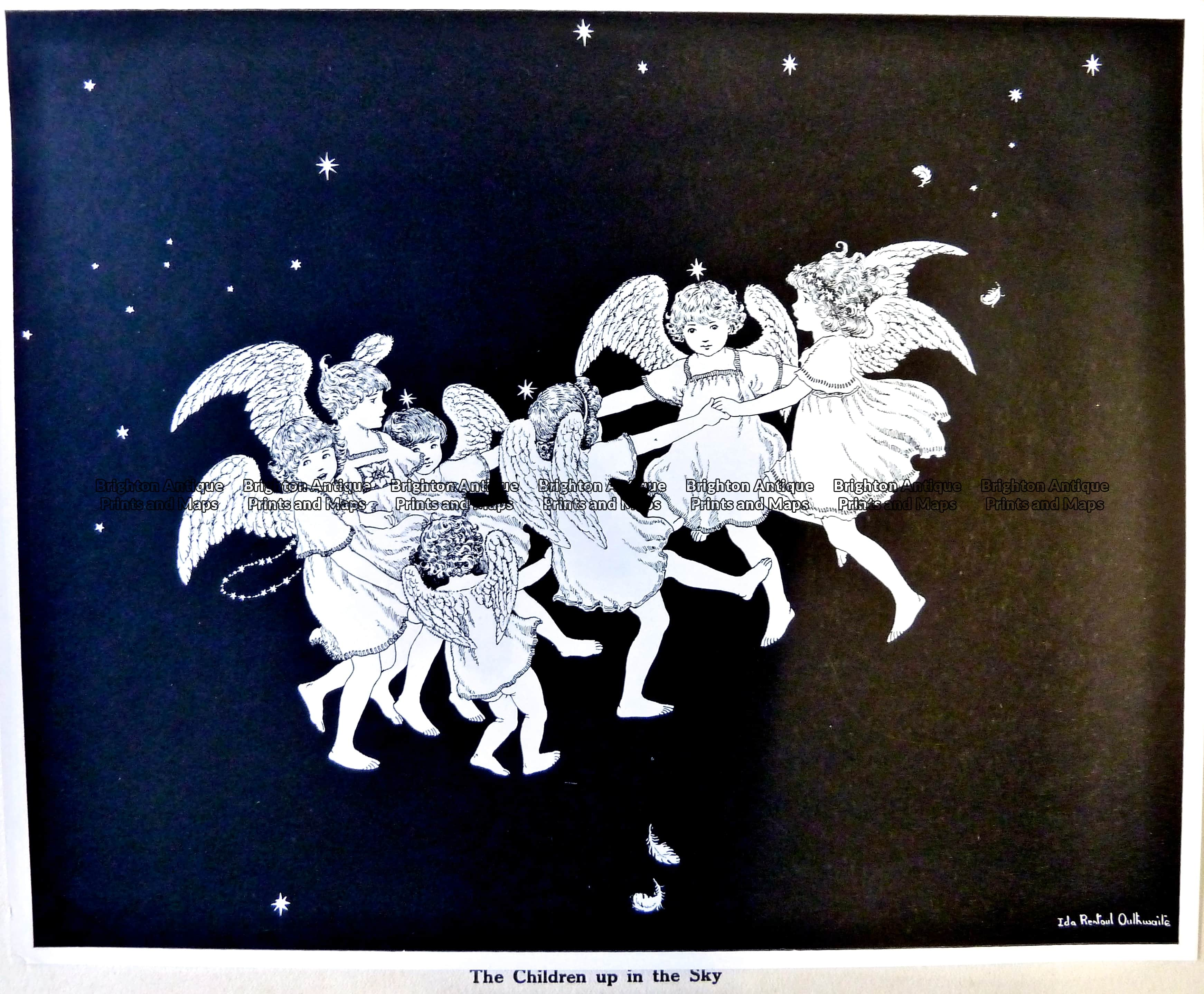 23 332 elves and fairies by outhwaite c 1916 brighton antique maps