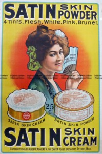 23-336  Poster for Satin Skin Powder by Albert Wood c.1903