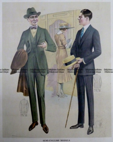 23-339  Men's fashion by Taylor c.1921