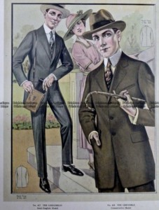 23-345  Men's fashion by Taylor c.1921