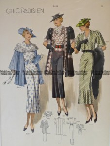 23-817  Fashion  from 1930's - Chic Parisien