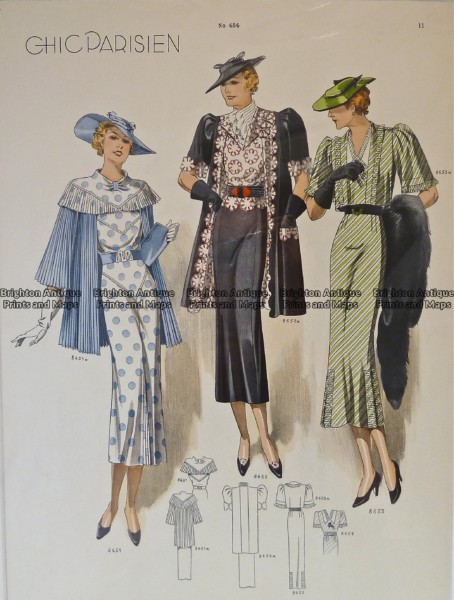 23-817  Fashion  from 1930's – Chic Parisien