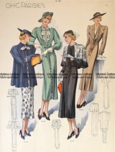 23-818  Fashion  from 1930's - Chic Parisien