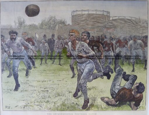 26-632 Soccer Football c.1875