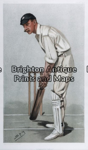 26-635 – Cricket – Flannelled Fighter Spy (Vanity Fair) – circa 1902 Chromolithograph 19cm X 32cm Condition A+