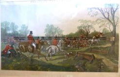 26-644  Fox Hunting scenes by Herring  c.1867