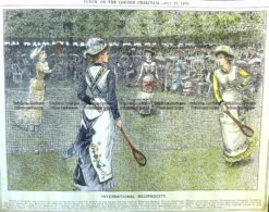 26-644  Tennis - International competition  c.1879