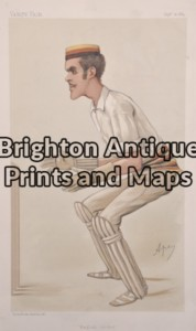 "26 - 645 - Cricket - ""English Cricket"" Alfred Lyttelton Vanity Fair Ape - circa 1884 Chromolithograph 19cm X 33cm Condition A+"
