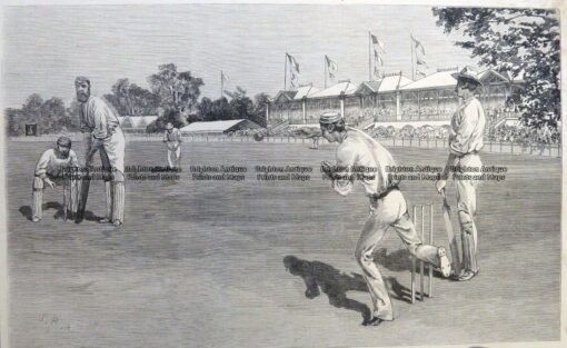 26-653  Cricket at MCG Melbourne  c.1879