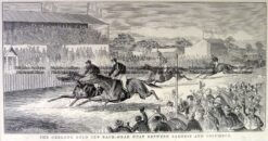 26-654  Racing at Geelong  c. 1882