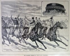 26-655  Racing at Caulfield  c. 1882
