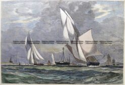 26-656  Yachting in Port Phillip  c.1880