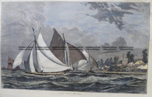 26-657  Yachting on Lake Colac  c.1880