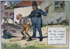 26-664  Cricket humour by Crombie sponsored by Perrier  c.1906