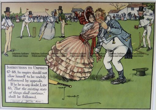 26-665  Cricket humour by Crombie sponsored by Perrier  c.1906