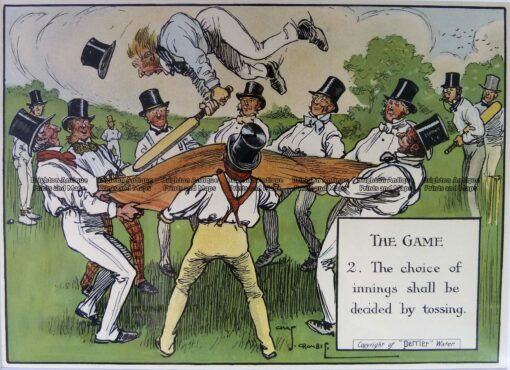 26-666  Cricket humour by Crombie sponsored by Perrier  c.1906