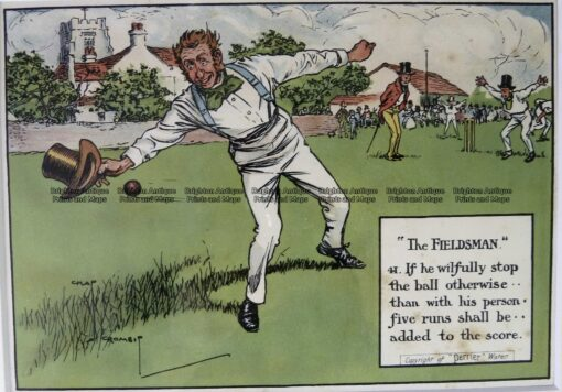 26-667  Cricket humour by Crombie sponsored by Perrier  c.1906