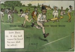 26-668  Cricket humour by Crombie sponsored by Perrier  c.1906