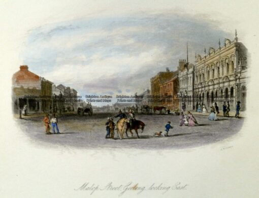 29-111  Geelong – Malop St looking East by S. T. Gill c.1857