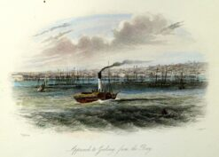 29-112  Geelong - Approach from the Bay by S. T. Gill c.1857