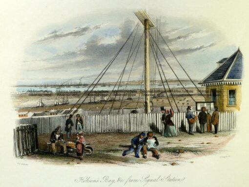 29-119  Melbourne – Hobson's Bay from Signal Station by S. T. Gill c.1857
