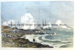 29-131  Cerberus attacking Williamstown batteries c.1875