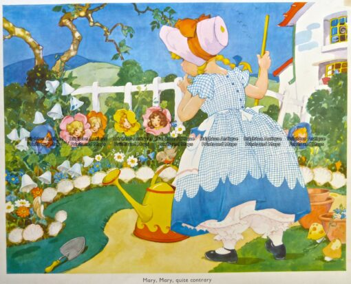29-340  Nursery Rhyme –  Mary Mary Quite Contrary  c.1960