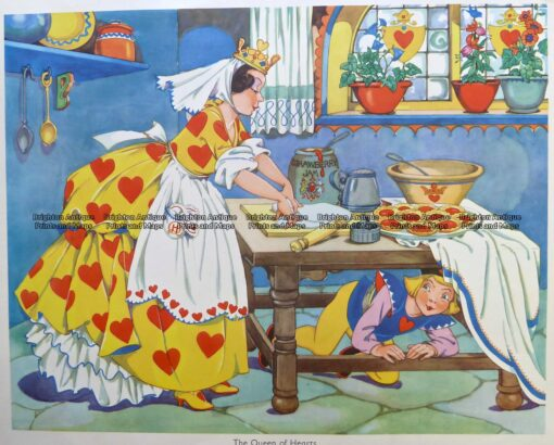 29-347  Nursery Rhyme – The Queen of Hearts  c.1960