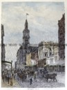 29-447 - Melbourne - Elizabeth Street Anon - circa 1886 Hand coloured wood engraving 18cm X 25cm Condition A+