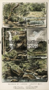 29-481 - Victoria - Lorne Anon - circa 1885 Hand coloured wood engraving 12cm X 20cm Condition A+