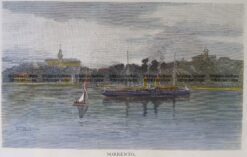 29-483 - Victoria - Sorrento Anon - circa 1886 Hand coloured wood engraving 20cm X 12cm Condition A+
